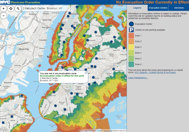 NYC Hurricane Zone Finder